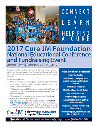 Cure Jm Foundation 2017 National Conference And Fundraiser | Flyers