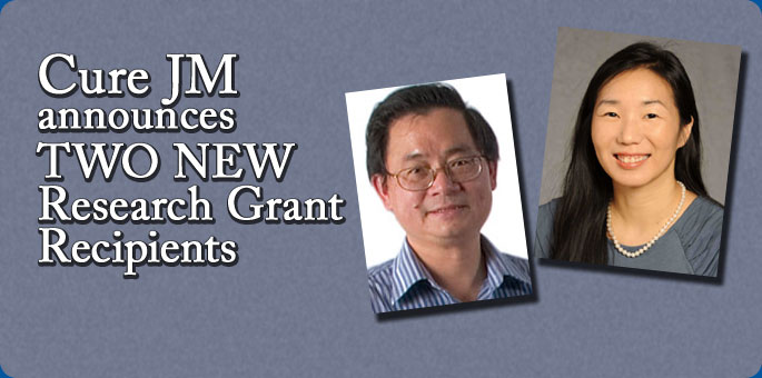Cure JM announces TWO NEW research grant recipients