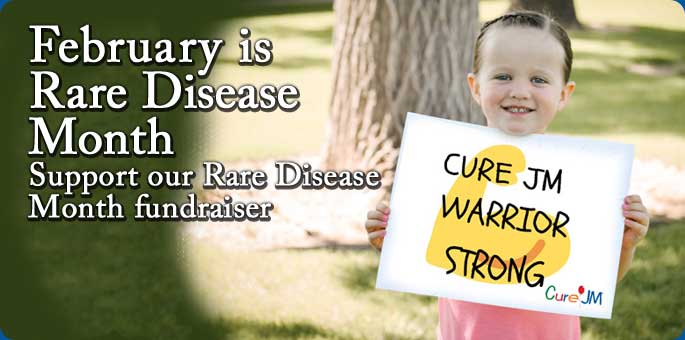 February is Rare Disease Month. Support our Rare Disease Month fundraiser.