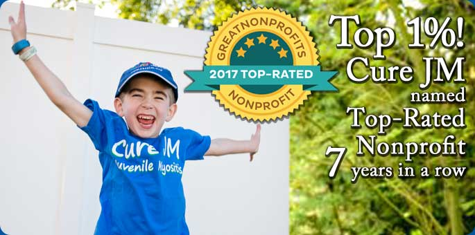 Top 1% Cure JM named top-rated nonprofit 7 years in a row.